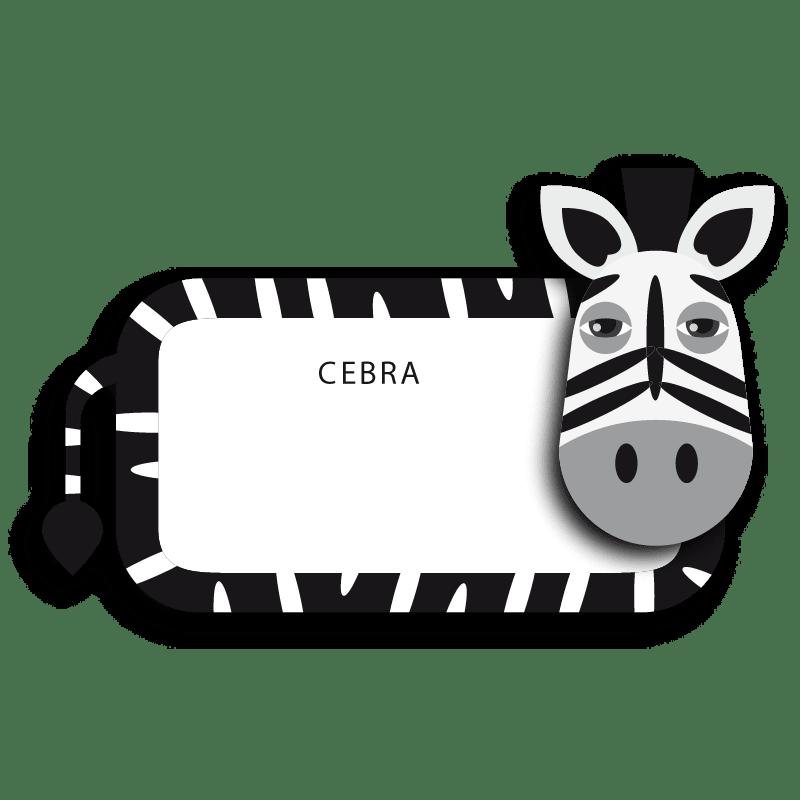 Cebras para colorear - 1