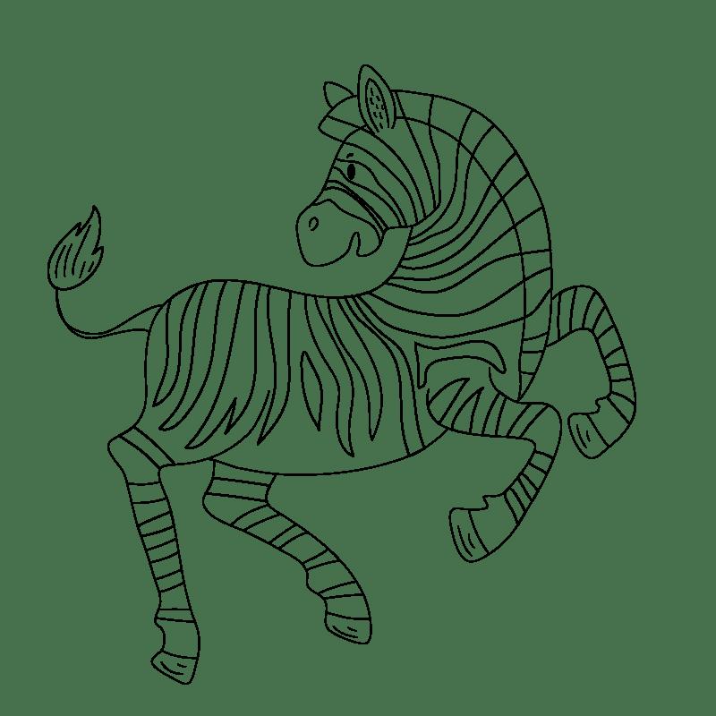 Cebras para colorear - 19
