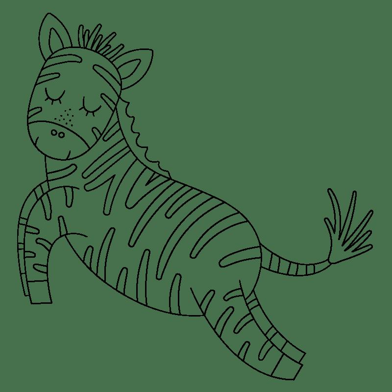 Cebras para colorear - 30