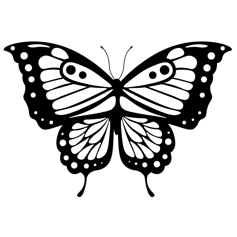 Mariposas para colorear - 18