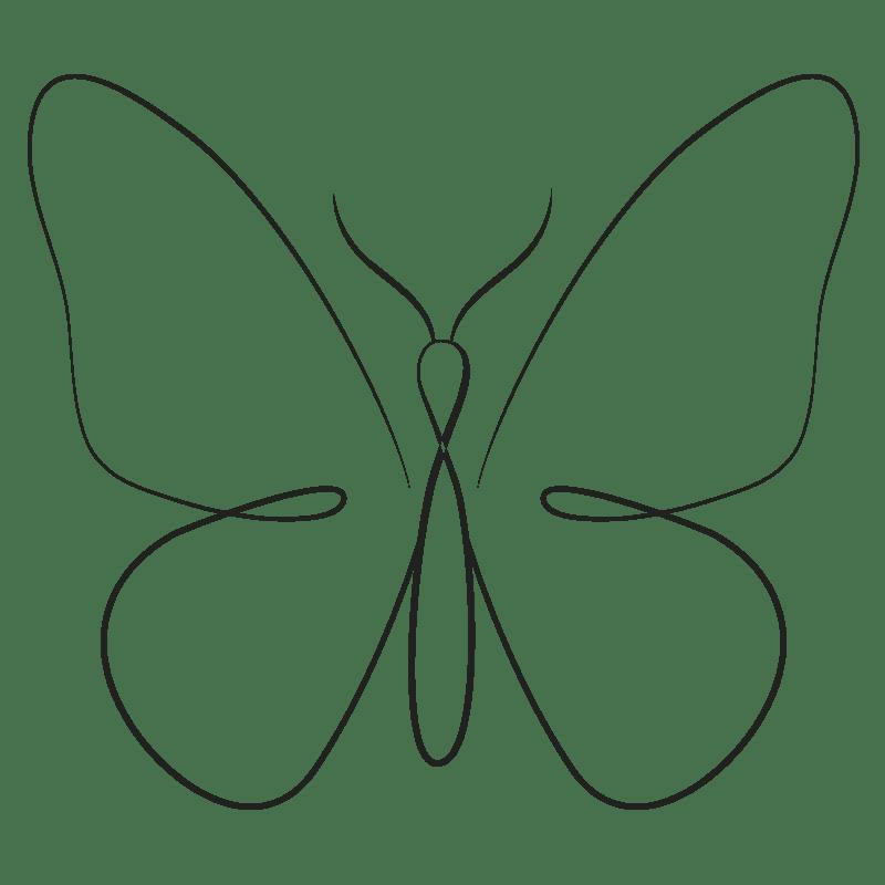 Mariposas para colorear - 19