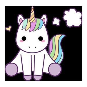 Unicornios para colorear - 1